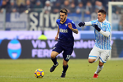 "Foto Filippo Rubin<br /> 06/01/2018 Ferrara (Italia)<br /> Sport Calcio<br /> Spal - Lazio - Campionato di calcio Serie A 2017/2018 - Stadio ""Paolo Mazza""<br /> Nella foto: LUIS ALBERTO (LAZIO) CONTRO FEDERICO VIVIANI (SPAL)<br /> <br /> Photo by Filippo Rubin<br /> January 06, 2018 Ferrara (Italy)<br /> Sport Soccer<br /> Spal vs Lazio - Italian Football Championship League A 2017/2018 - ""Paolo Mazza"" Stadium <br /> In the pic: LUIS ALBERTO (LAZIO) VS FEDERICO VIVIANI (SPAL)"