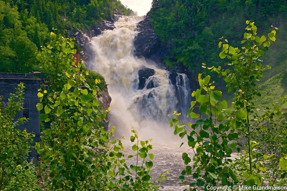 Ouiatchouan  River at Ouiatchouan Falls. Saguenay-Lac-Saint-Jean region. <br /> , Val-Jalbert, Quebec, Canada