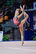 Giorgia Remartini atleta della Società Ritmica Nervianese durante la seconda prova del Campionato Italiano di Ginnastica Ritmica.<br /> La gara si è svolta a Desio il 31 ottobre 2015.