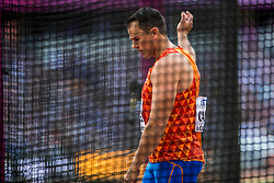 04-08-2017 IAAF World Championships Athletics day 1, London<br /> Erik Cadee NED Discus throw