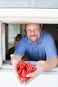 12 July 2012- Tim Baden, owner at Volcanic Peppers is photographed in Plattsmouth, Nebraska for Omaha Magazine.