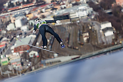 03.01.2014, Bergisel Schanze, Innsbruck, AUT, FIS Ski Sprung Weltcup, 62. Vierschanzentournee, Training, im Bild Roberto Dellasega (ITA) // Roberto Dellasega (ITA) during practice Jump of 62nd Four Hills Tournament of FIS Ski Jumping World Cup at the Bergisel Schanze, Innsbruck, <br /> Austria on 2014/01/03. EXPA Pictures © 2014, PhotoCredit: EXPA/ JFK