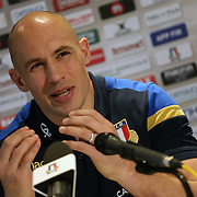 Cardiff 09/03/2018, <br /> Natwest 6 nations 2018 <br /> Galles vs Italia<br /> Conferenza Stampa Sergio Parisse
