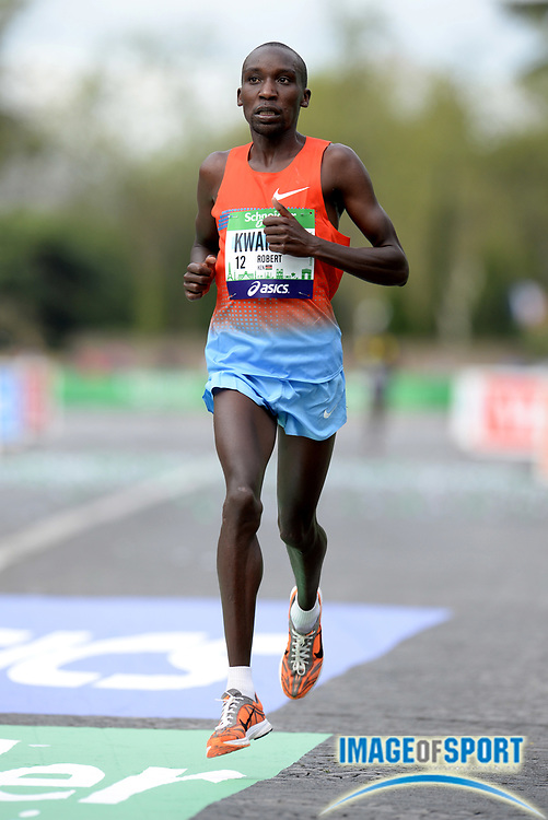 Apr 6, 2014; Paris, France; Robert Kwambai (KEN) places fourth in the Schneider Electric Marathon de Paris in 2:08:48. Photo by Jiro Mochizuki