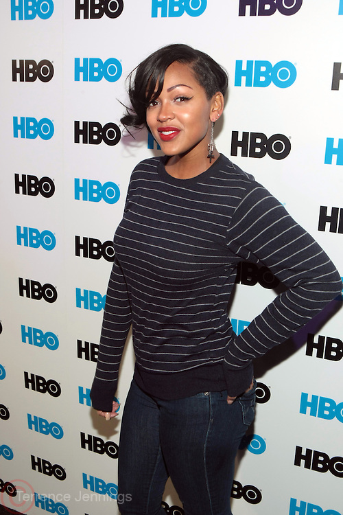 Park City, Utah- January 22:  Actress Meagan Good at the Official HBO Sundance Party ' Love, Peace & Hair Grease held at  the Blue Iguana Restaurant on January 22, 2012 in Park City, Utah. Photo Credit: Terrence Jennings
