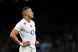Anthony Watson of England looks on during a break in play - Photo mandatory by-line: Patrick Khachfe/JMP - Mobile: 07966 386802 14/03/2015 - SPORT - RUGBY UNION - London - Twickenham Stadium - England v Scotland - Six Nations Championship