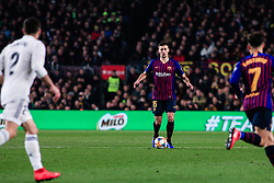 February 6, 2019 - Barcelona, BARCELONA, Spain - 15 Lenglet of FC Barcelona during the semi-final first leg of Spanish King Cup / Copa del Rey football match between FC Barcelona and Real Madrid on 04 of February of 2019 at Camp Nou stadium in Barcelona, Spain (Credit Image: © AFP7 via ZUMA Wire)