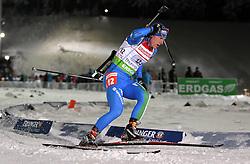 05.01.2012, DKB-Ski-ARENA, Oberhof, GER, E.ON IBU Weltcup Biathlon 2012, Staffel Herren, im Bild Lukas Hofer (ITA) // during relay Mens of E.ON IBU World Cup Biathlon, Thüringen, Germany on 2012/01/05. EXPA Pictures © 2012, PhotoCredit: EXPA/ nph/ Hessland..***** ATTENTION - OUT OF GER, CRO *****