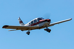 Piper PA-28-180 Cherokee (N55792) on approach to Palo Alto Airport (KPAO), Palo Alto, California, United States of America