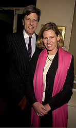 SIR TOBIAS & LADY CLARKE at an exhibition in London on 31st October 2000.OIN 17