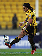 Ma'a Nonu chips ahead. Super 15 rugby match - Hurricanes v Lions at Westpac Stadium, Wellington, New Zealand on Saturday, 4 June 2011. Photo: Dave Lintott / photosport.co.nz