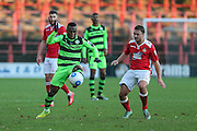 Forest Green Rovers Drissa Traoré(4) during the Vanarama National League match between Wrexham FC and Forest Green Rovers at the Racecourse Ground, Wrexham, United Kingdom on 26 November 2016. Photo by Shane Healey.