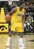 04 JANUARY 2007: Iowa guard Mike Henderson (35) dribbles down court in Iowa's 62-60 win over Michigan State at Carver-Hawkeye Arena in Iowa City, Iowa on January 4, 2007.