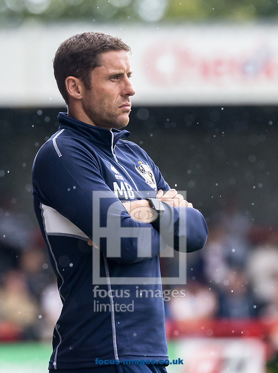 Michael Brown manager of Port Vale during the Sky Bet League 2 match at  Checkatrade.com Stadium, Crawley<br /> Picture by Liam McAvoy/Focus Images Ltd 07413 543156<br /> 05/08/2017