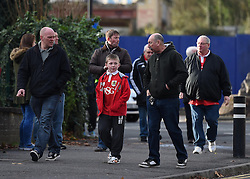 Supporters arrive at Ashton Gate for FA Cup second round tie between Bristol City and AFC Telford - Photo mandatory by-line: Paul Knight/JMP - Mobile: 07966 386802 - 07/12/2014 - SPORT - Football - Bristol - Ashton Gate - Bristol City v AFC Telford - FA Cup Second Round