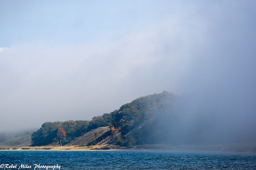 The Fog Begins To Clear Over Lake Michigan In Holland Michigan