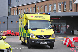 ©Licensed to London News Pictures 03/03/2020<br /> Lewisham, UK. Lewisham Hospital A&E. A Chinese woman diagnosed with Coronavirus after getting an Uber to Lewisham hospital has been discharged after recovering. Photo credit: Grant Falvey/LNP