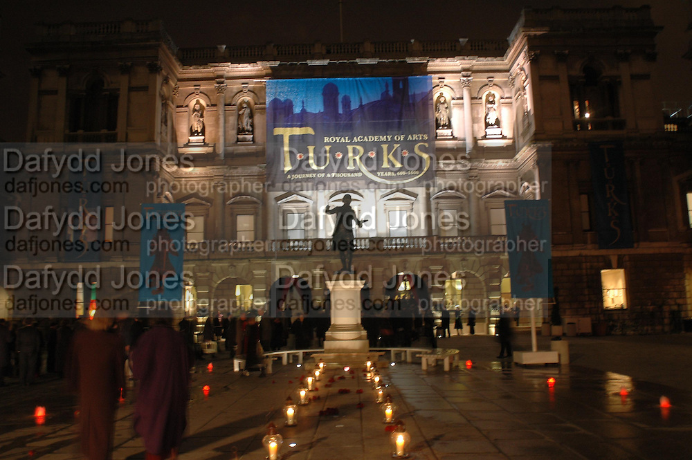 The opening of Turks: A Journey of a Thousand Years, 600-1600 - an exhibition of Turkish art.  Royal Academy of Arts, Piccadilly, London ONE TIME USE ONLY - DO NOT ARCHIVE  © Copyright Photograph by Dafydd Jones 66 Stockwell Park Rd. London SW9 0DA Tel 020 7733 0108 www.dafjones.com