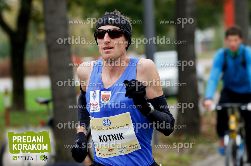 Robert Kotnik compete during 21km and 42km run at 19th Ljubljana Marathon 2014 on October 26, 2014 in Ljubljana, Slovenia. Photo by Vid Ponikvar / Sportida.com