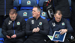 Blackburn Rovers manager Owen Coyle (C) - Mandatory by-line: Jack Phillips/JMP - 28/01/2017 - FOOTBALL - Ewood Park - Blackburn, England - Blackburn Rovers v Blackpool - FA Cup Fourth Round