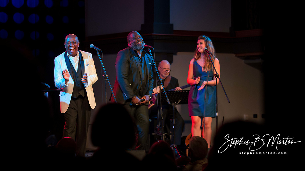 Roger Moss and Kim Steiner shares the stage at Victory North Concerts with Tony Award Grammy Award nominee and winner, Phillip Boykin and American Traditions Vocal Competition Gold Medalist Mikki Sodergren during the Moss & Steiner Opening Cabaret, Saturday, June 30, 2019, in Savannah, Ga. (Photo by Stephen B. Morton)