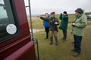 Group of birdwatchers out for the day with Islay Birding, Islay, Scotland.