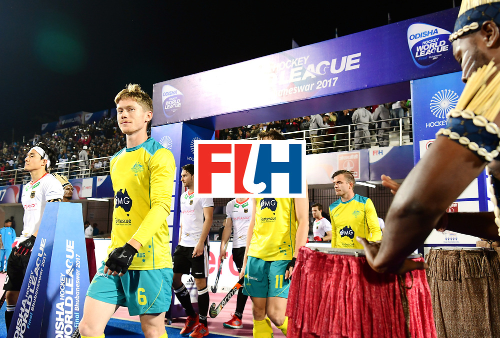Odisha Men's Hockey World League Final Bhubaneswar 2017<br /> Match id:20<br /> Australia v Germany<br /> Foto: Line Up<br /> COPYRIGHT WORLDSPORTPICS FRANK UIJLENBROEK