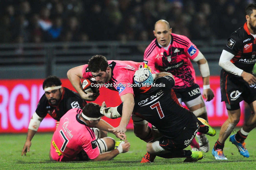 Alexandre Flanquart - 02.01.2015 - Lyon OU / Stade Francais - 15eme journee de Top 14 <br />
