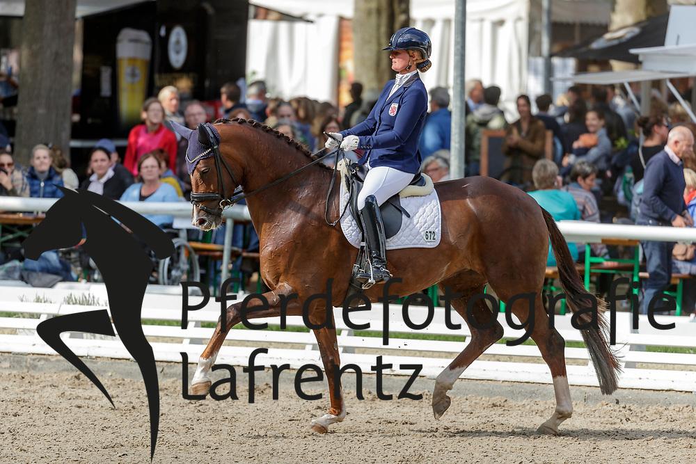 MÖLLER Kristine (LUX), Quatre-Quarts a l'Orange<br /> Warendorf - Bundeschampionate 2019<br /> Dressurpferdeprüfung Kl. L<br /> Finale 5jährige<br /> 08. September 2019<br /> © www.sportfotos-lafrentz.de/Stefan Lafrentz