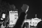 Hundreds of demonstrators march to the White House in protest after Gran Jury in St Louis County decided to not indict police Officer Darren Wilson in the shooting death of Michael Brown. November 24th, 2014<br />