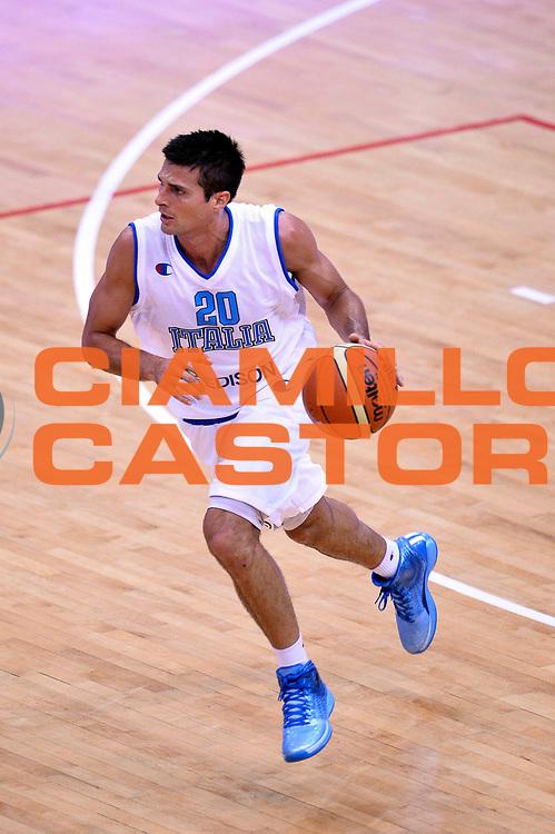 DESCRIZIONE : Trento Nazionale Italia Uomini Trentino Basket Cup Italia Germania Italy Germany<br /> GIOCATORE : Andrea Cinciarini<br /> CATEGORIA : Palleggio<br /> SQUADRA : Italia Italy<br /> EVENTO : Trentino Basket Cup<br /> GARA : Italia Germania Italy Germany<br /> DATA : 10/07/2014<br /> SPORT : Pallacanestro<br /> AUTORE : Agenzia Ciamillo-Castoria/Max.Ceretti<br /> Galleria : FIP Nazionali 2014<br /> Fotonotizia : Trento Nazionale Italia Uomini Trentino Basket Cup Italia Germania Italy Germany
