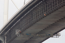 Pics of the closed Forth Road bridge.