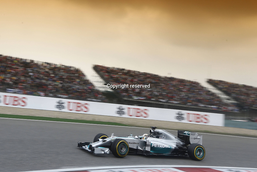 20.04.2014. SHanghai, China.  Motorsports: FIA Formula One World Championship 2014, Grand Prix of China, 44 Lewis Hamilton (GBR, Mercedes AMG Petronas F1 Team) in the lead on his way to his 3rd win in a row,