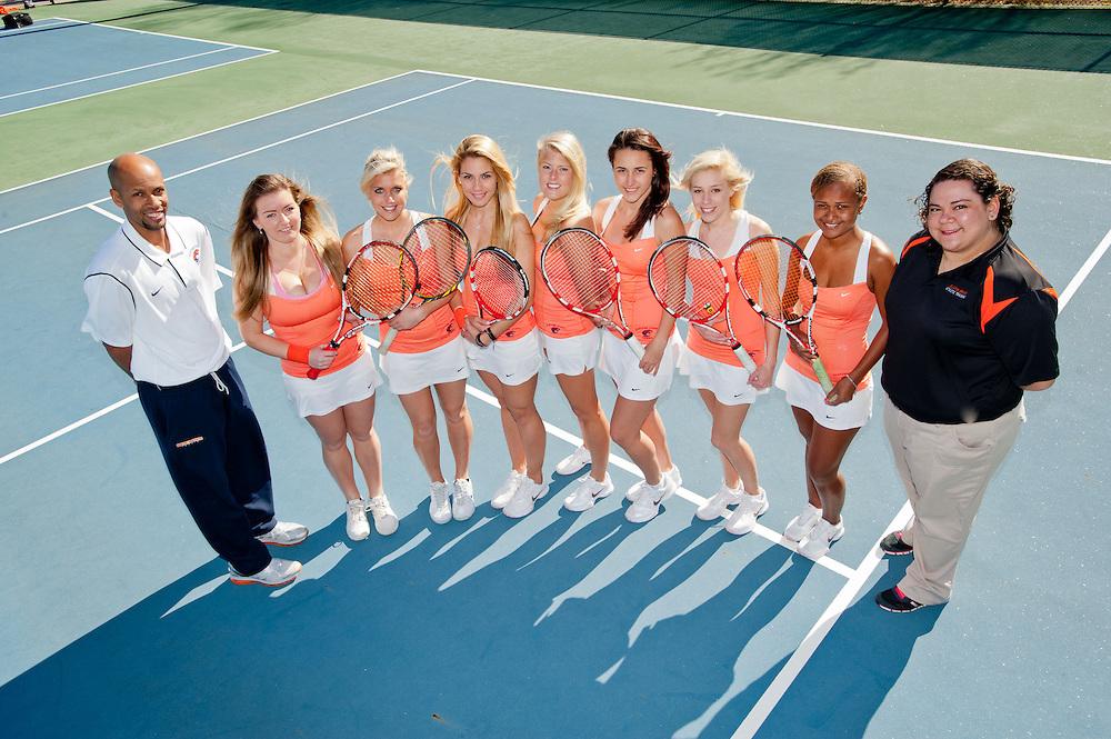 Feb. 1, 2013; Morrow, GA, USA; Individual and team portraits taken of Clayton State University women's tennis team at CSU. Photo by Kevin Liles/kdlphoto.com