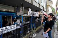 Roma 22 Maggio 2013.Un gruppo di precari riuniti sotto la sigla Piattaforma per il reddito di base e i diritti ha occupato questa mattina una sede dell' INPS per rivendicare reddito e un nuovo welfare sociale.