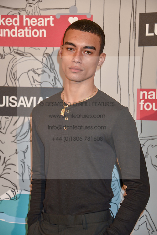 Reece King at the Fabulous Fund Fair in aid of Natalia Vodianova's Naked Heart Foundation in association with Luisaviaroma held at The Round House, Camden, London England. 18 February 2019.