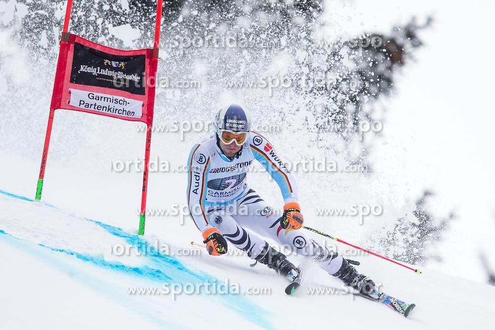 01.03.2015, Kandahar, Garmisch Partenkirchen, GER, FIS Weltcup Ski Alpin, Riesenslalom, Herren, 1. Lauf, im Bild Fritz Dopfer (GER) // Fritz Dopfer of Germany in action during 1st run for the men's Giant Slalom of the FIS Ski Alpine World Cup at the Kandahar course, Garmisch Partenkirchen, Germany on 2015/03/01. EXPA Pictures © 2015, PhotoCredit: EXPA/ Johann Groder