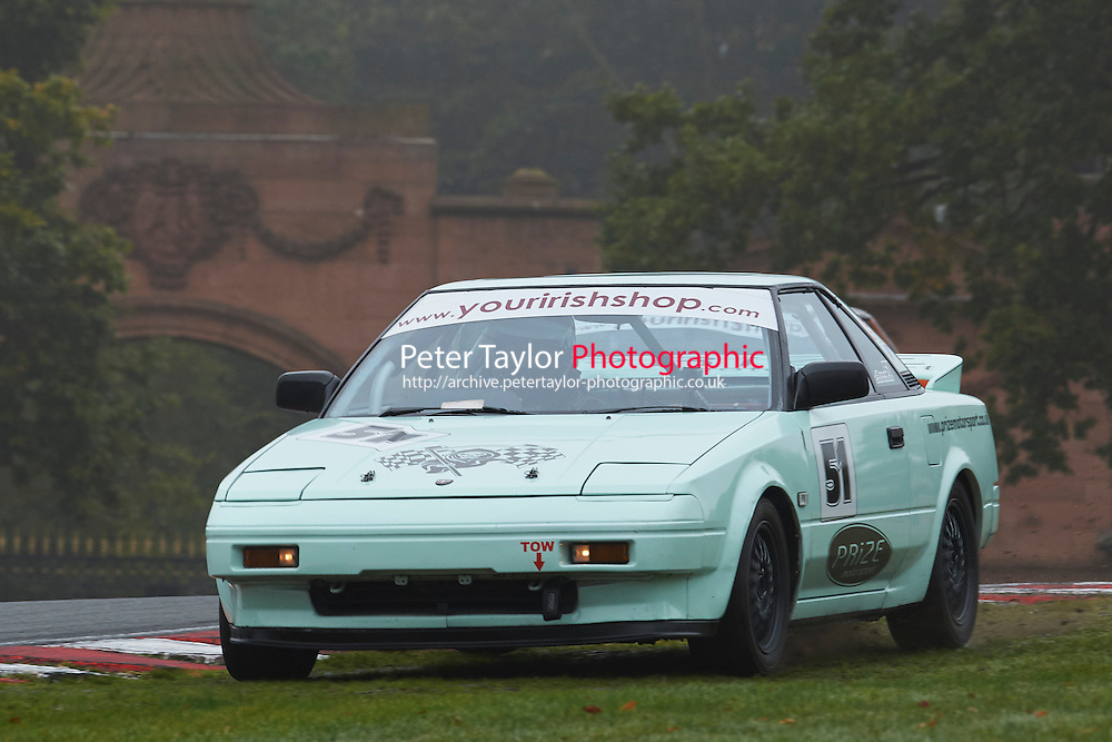 #51 Adam LOCKWOOD Toyota MR2 Mk1 during Nippon Challenge / Youririshhop.com MR2 Racing Series - Qualifying  as part of the BARC Championships Race Day at Oulton Park, Little Budworth, Cheshire, United Kingdom. October 03 2015. World Copyright Taylor/PSP. Copy of publication required for printed pictures.  Every used picture is fee-liable. http://archive.petertaylor-photographic.co.uk