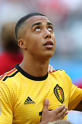 July 14, 2018 - St. Petersburg, Russia - July 14, 2018, St. Petersburg, FIFA World Cup 2018, Football match for the third place in the World Cup. Football match of Belgium - England at the stadium of St. Petersburg. Player of the national team Jri Thielemanns  (Credit Image: © Russian Look via ZUMA Wire)