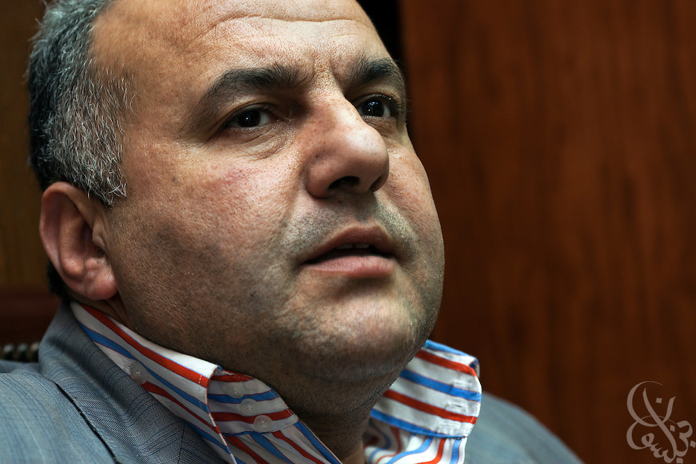 Hisham El Hamami, 48, in his office in the Garden City district of Cairo, Egypt May 6, 2012. El Hamami says he is one of Egyptian Islamist presidential candidate Abdul Moneim Aboul Fotouh's closest friends and advisors.