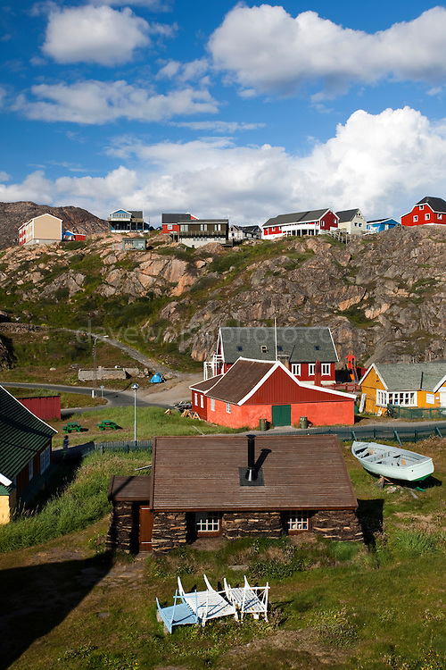 Early 20th century peat house in Sisimiut, the second largest town in Greenland