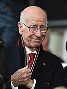 Manchester United legend Bobby Charlton before the Premier League match between Bournemouth and Manchester United at the Vitality Stadium, Bournemouth, England on 18 April 2018. Picture by Graham Hunt.