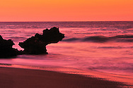 Beach and surf at sunset,,Cabarete, Dominican Republic, Caribbean