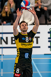 Freek de Weijer #8 of Dynamo in action in the second round between Sliedrecht Sport and Draisma Dynamo on February 29, 2020 in sports hall de Basis, Sliedrecht