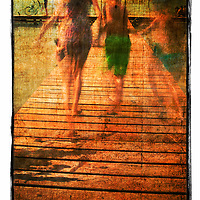 Where: Lago Paranoia, Brasilia, Brazil.<br /> I used a slow shutter speed to get the blur of the running children.