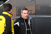 Millwall manager Neil Harris arrives at the Pirelli  during the EFL Sky Bet Championship match between Burton Albion and Millwall at the Pirelli Stadium, Burton upon Trent, England on 24 February 2018. Picture by John Potts.
