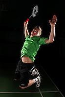 Marcus Ellis England Badminton, World Championship photoshoot, NBC, Milton Keynes, England, 2011