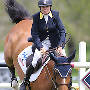 Leslie Howard riding Balboa 6 in action during the $35,000 Grand Prix of North Salem presented by Karina Brez Jewelry during the Old Salem Farm Spring Horse Show, North Salem, New York, USA. 15th May 2015. Photo Tim Clayton