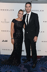 British fine jewellery brand Boodles welcomed guests for the 2013 Boodles Boxing Ball in aid of Starlight Children's Foundation held at the Grosvenor House Hotel, Park Lane, London on 21st September 2013.<br /> Picture Shows:- KEVIN PIETERSEN and his wife<br /> <br /> Press release - https://www.dropbox.com/s/a3pygc5img14bxk/BBB_2013_press_release.pdf<br /> <br /> For Quotes  on the event call James Amos on 07747 615 003 or email jamesamos@boodles.com. For all other press enquiries please contact luciaroberts@boodles.com (0788 038 3003)