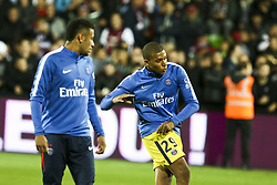 September 8, 2017 - Paris, France - Da Silva Santos Junior Neymar and Mbappe Lottin Kylian during warm up prior to the French L1 football match between Metz (FCM) and Paris Saint-Germain (PSG) on September 8, 2017 at the Saint-Symphorien stadium in Longeville-les-Metz, northeastern France. (Credit Image: © Elyxandro Cegarra/NurPhoto via ZUMA Press)
